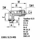 Цена на фитинг Фитинг угловой 1501 5/3-M5 1501 5/3-M5