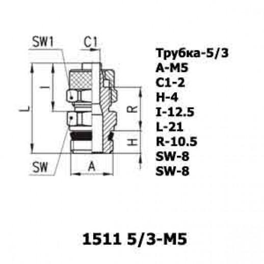 Цена фитинга Фитинг прямой 1511 5/3-M5