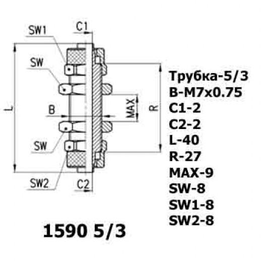 Цена фитинга Фитинг соединитель панельного типа 1590 5/3