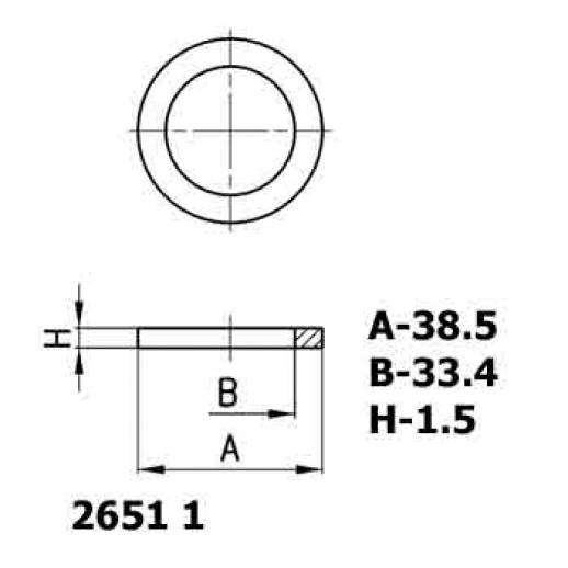 Цена фитинга Уплотнительное кольцо алюминиевое 2651 1