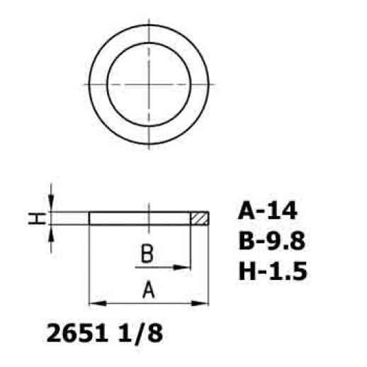 Цена фитинга Уплотнительное кольцо алюминиевое 2651 1/8