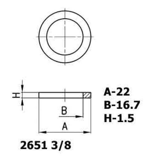 Цена фитинга Уплотнительное кольцо алюминиевое 2651 3/8