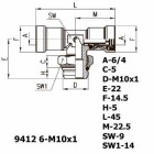 Цена на фитинг Фитинг тройник горизонтальный 9412 6-M10x1 9412 6-M10x1