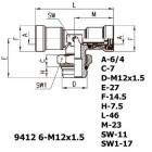 Цена на фитинг Фитинг тройник горизонтальный 9412 6-M12x1.5 9412 6-M12x1.5