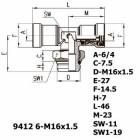 Цена на фитинг Фитинг тройник горизонтальный 9412 6-M16x1.5 9412 6-M16x1.5
