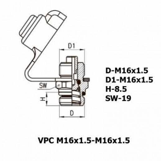 Цена фитинга Фитинг контрольного вывода VPC M16x1.5-M16x1.5