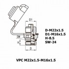 Цена на фитинг Фитинг контрольного вывода VPC M22x1.5-M16x1.5 VPC M22x1.5-M16x1.5